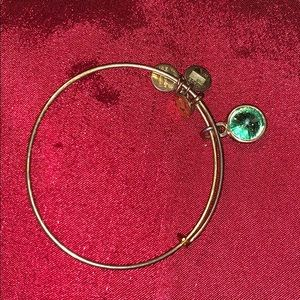 Light green circle charm Alex and ani August stone